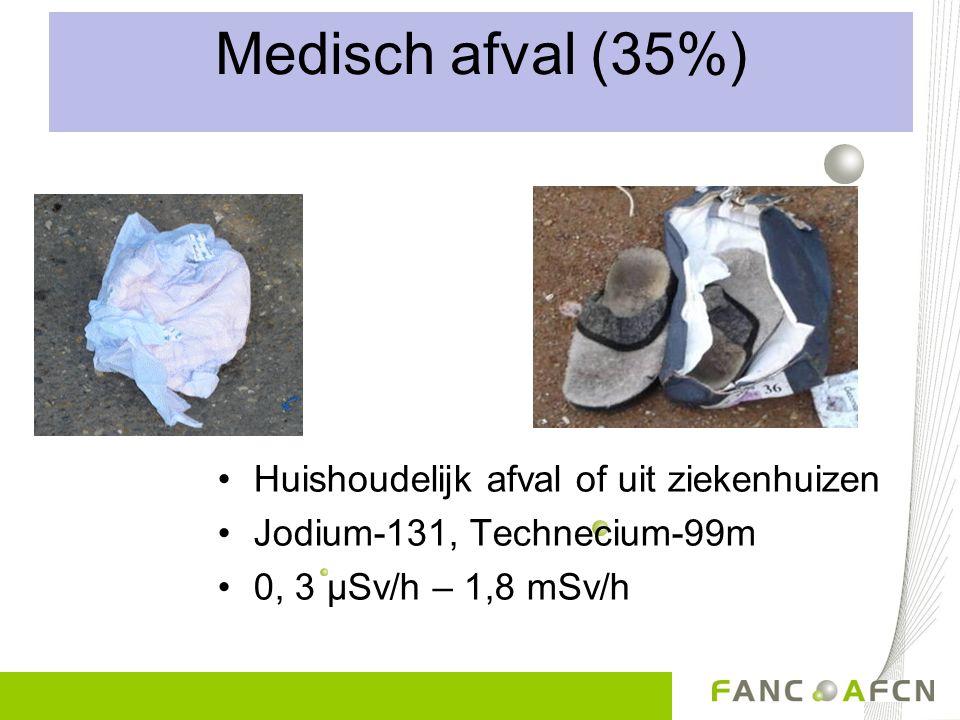 Medisch afval (35%) Huishoudelijk afval of uit ziekenhuizen