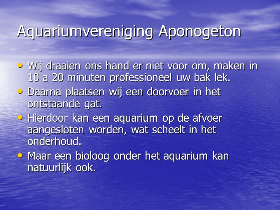 Aquariumvereniging Aponogeton