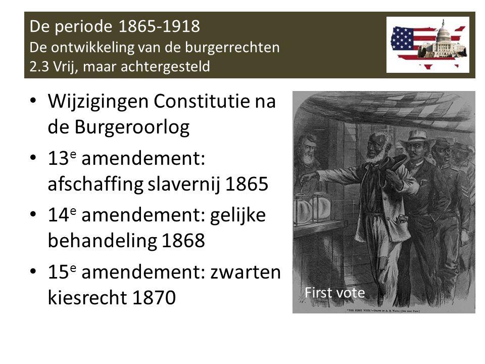 Wijzigingen Constitutie na de Burgeroorlog