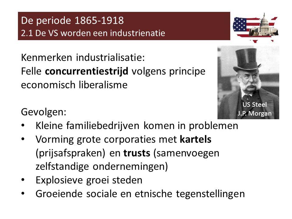Kenmerken industrialisatie: