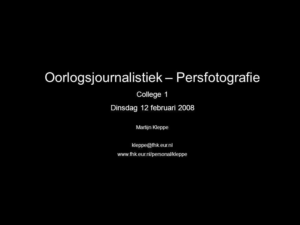 Oorlogsjournalistiek – Persfotografie