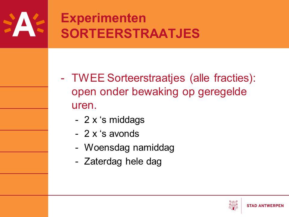 Experimenten SORTEERSTRAATJES