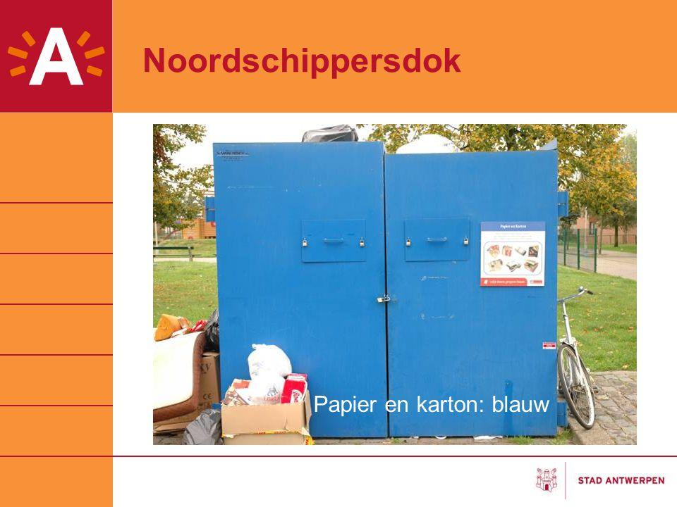 Noordschippersdok Papier en karton: blauw
