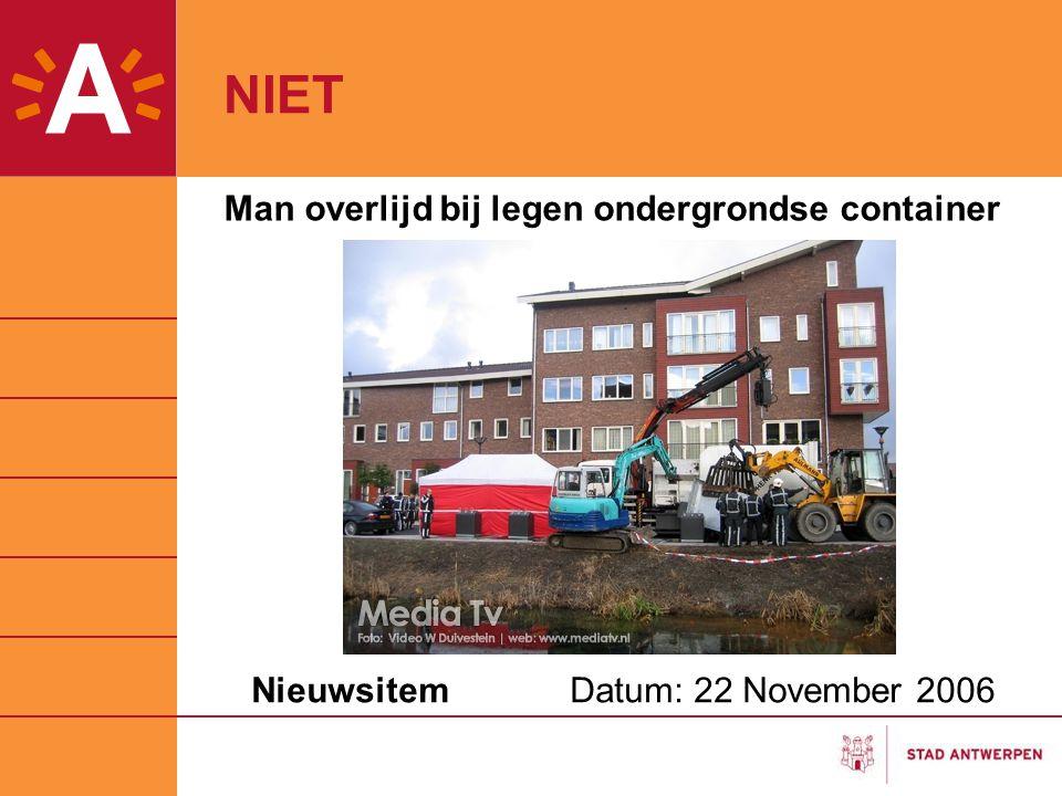 Nieuwsitem Datum: 22 November 2006