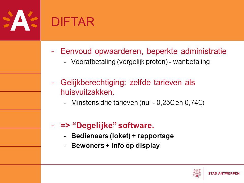 DIFTAR Eenvoud opwaarderen, beperkte administratie