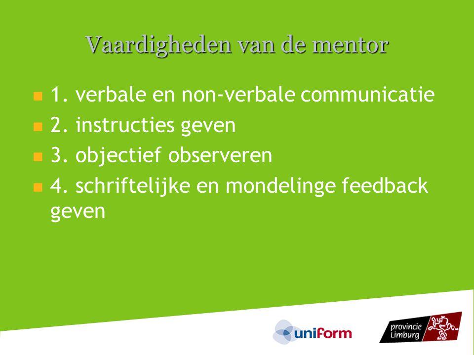 Vaardigheden van de mentor
