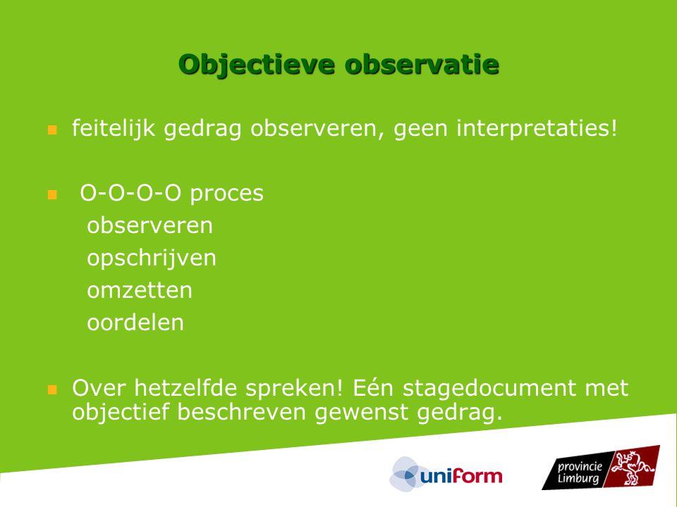 Objectieve observatie