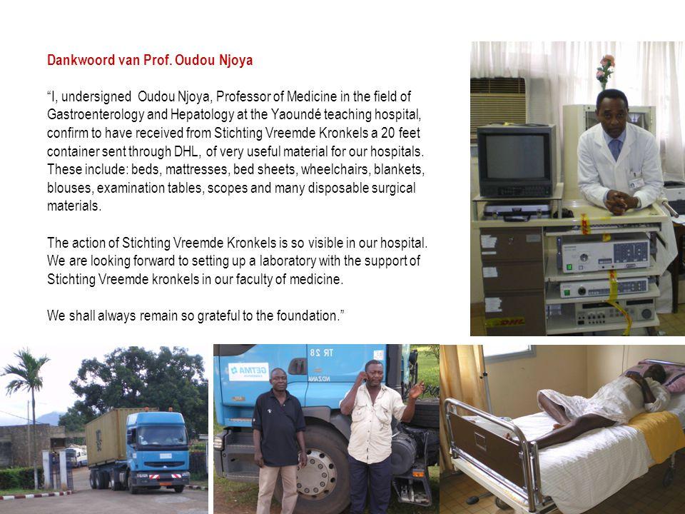 Dankwoord van Prof. Oudou Njoya