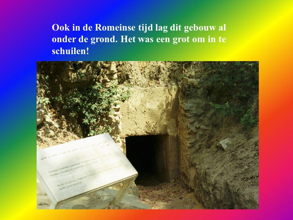 Ook in de Romeinse tijd lag dit gebouw al onder de grond