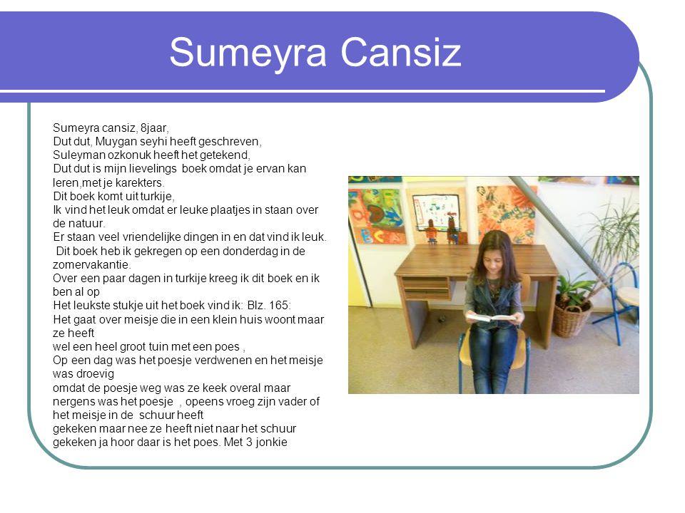 Sumeyra Cansiz Sumeyra cansiz, 8jaar,