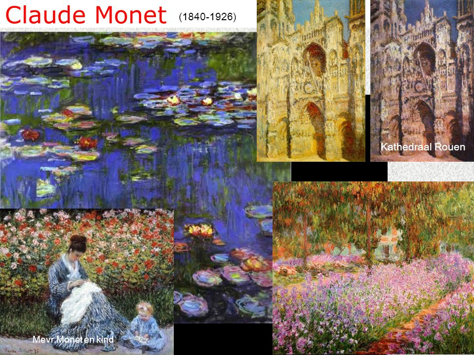 Claude Monet (1840-1926) Kathedraal Rouen Mevr.Monet en kind