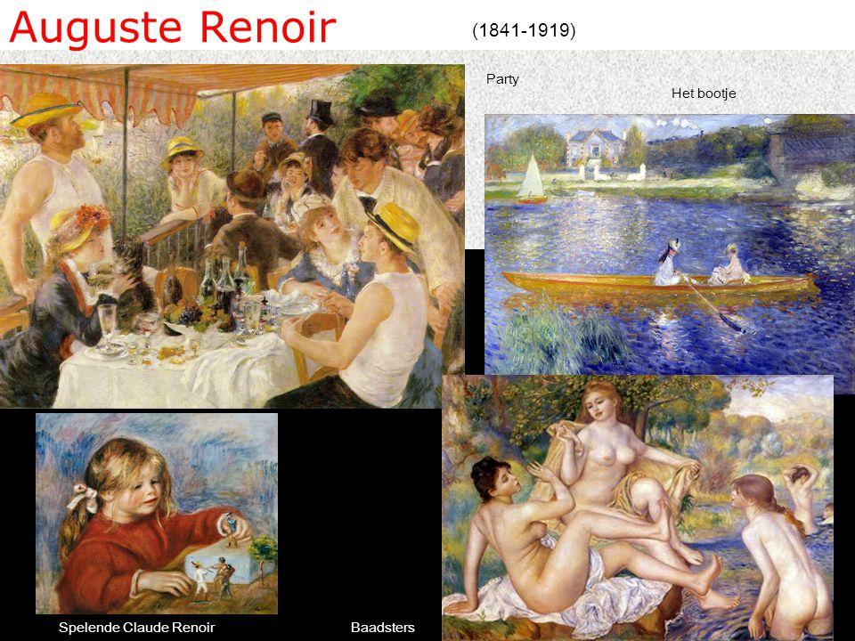 Auguste Renoir (1841-1919) Party Het bootje Spelende Claude Renoir