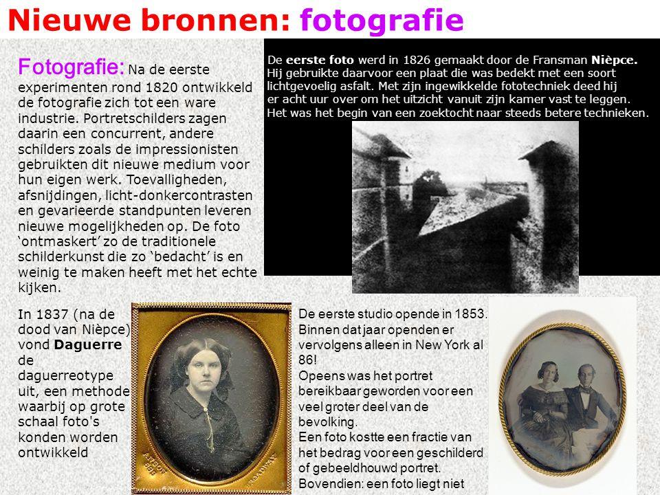 Nieuwe bronnen: fotografie