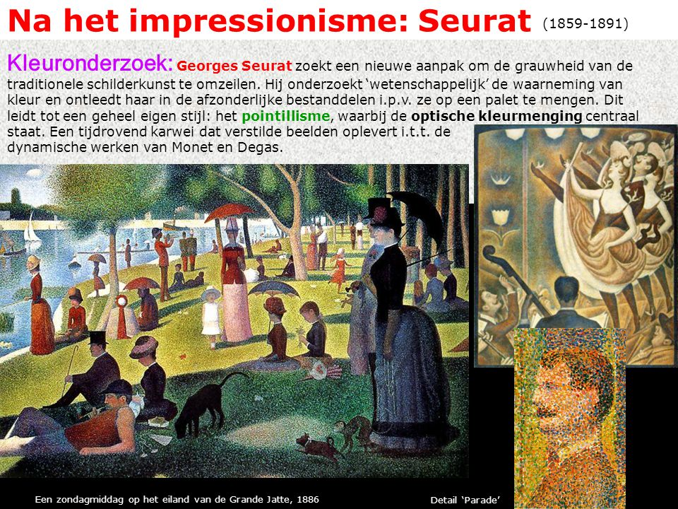 Na het impressionisme: Seurat