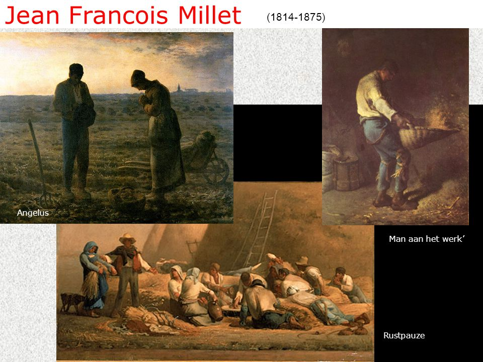 Jean Francois Millet (1814-1875) Angelus Man aan het werk' Rustpauze