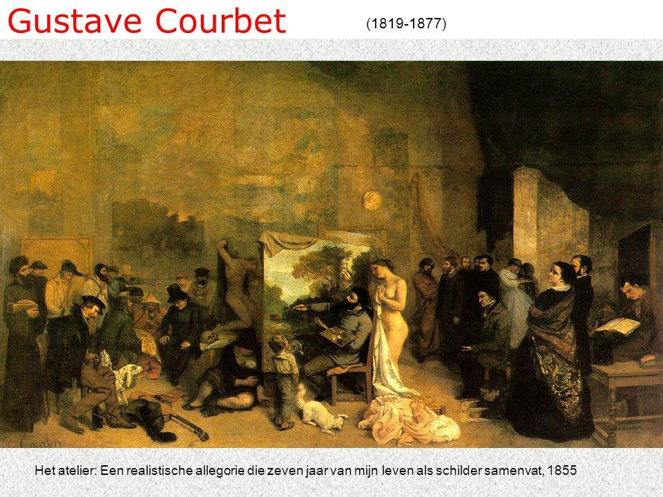 Gustave Courbet (1819-1877) Het atelier: Een realistische allegorie die zeven jaar van mijn leven als schilder samenvat, 1855.