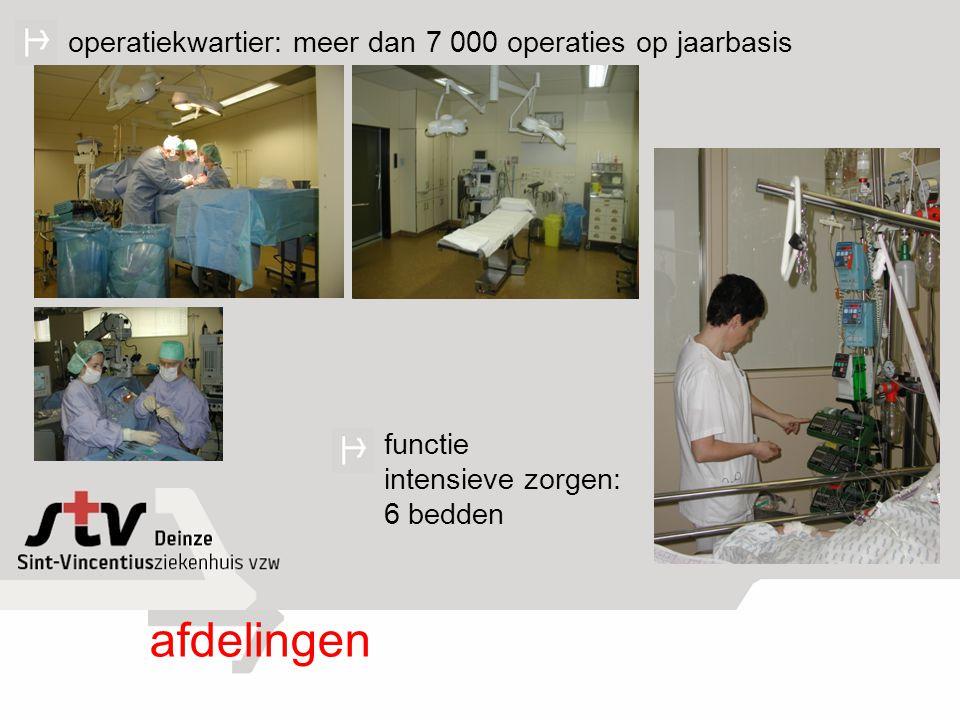 afdelingen operatiekwartier: meer dan 7 000 operaties op jaarbasis