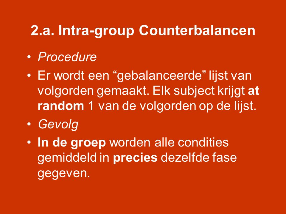 2.a. Intra-group Counterbalancen
