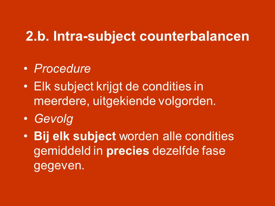 2.b. Intra-subject counterbalancen