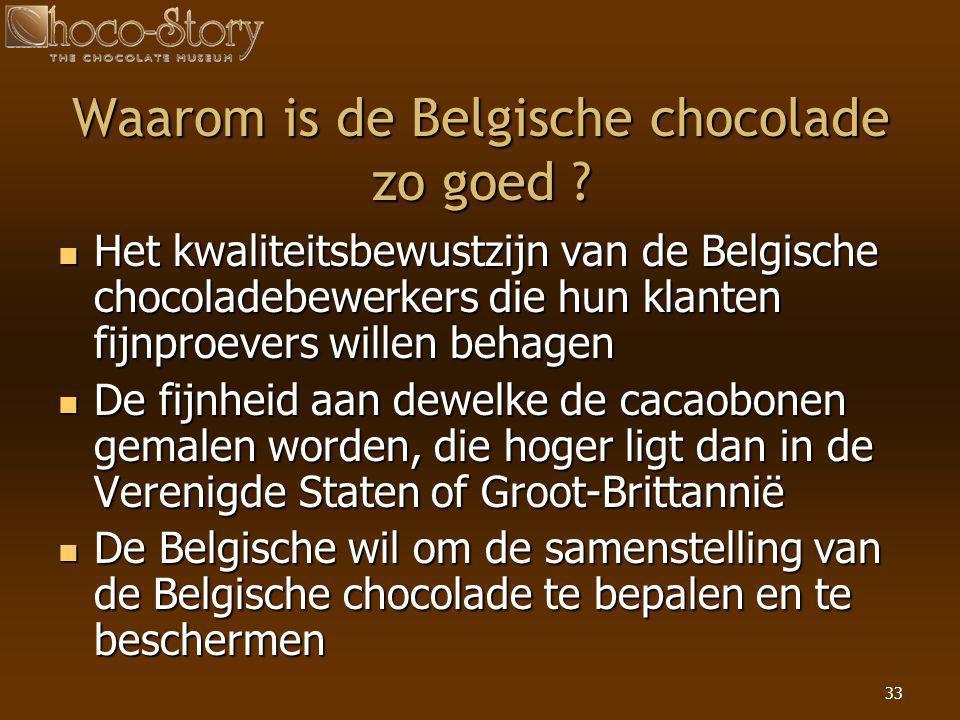Waarom is de Belgische chocolade zo goed