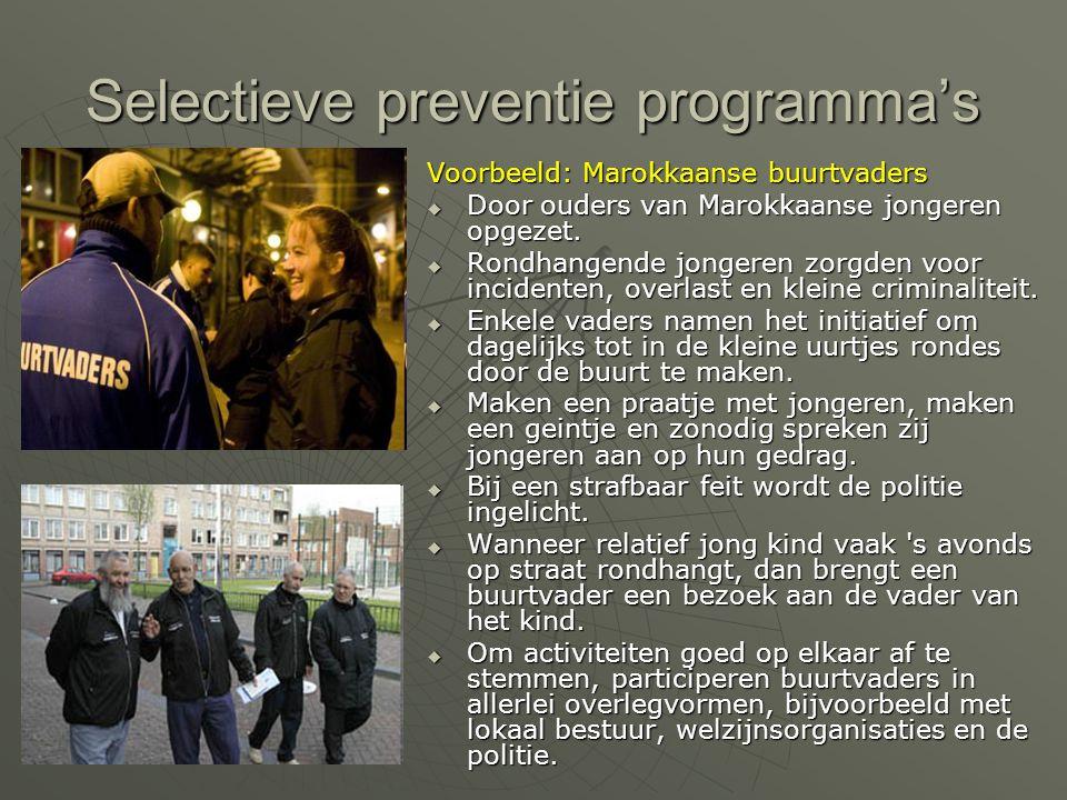 Selectieve preventie programma's