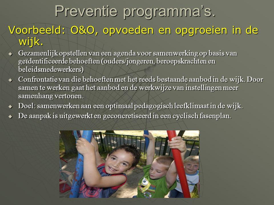 Preventie programma's.