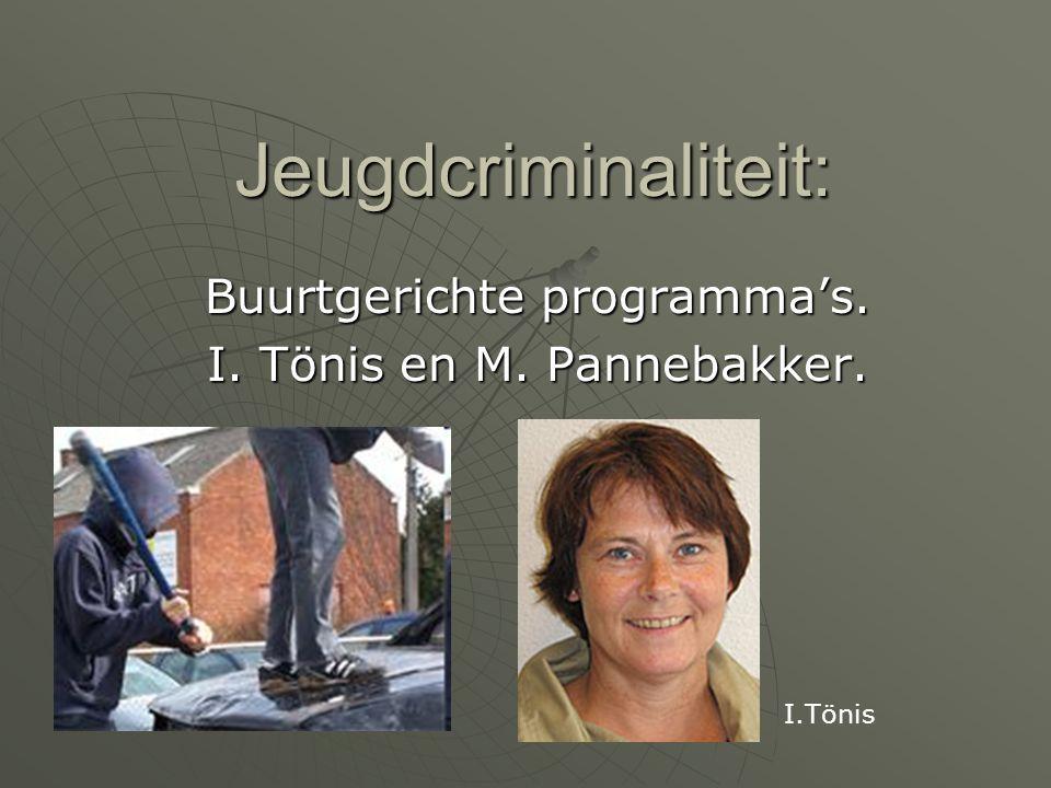 Buurtgerichte programma's. I. Tönis en M. Pannebakker.