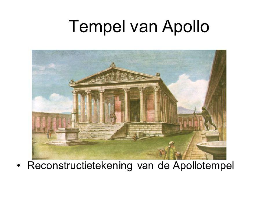Tempel van Apollo Reconstructietekening van de Apollotempel