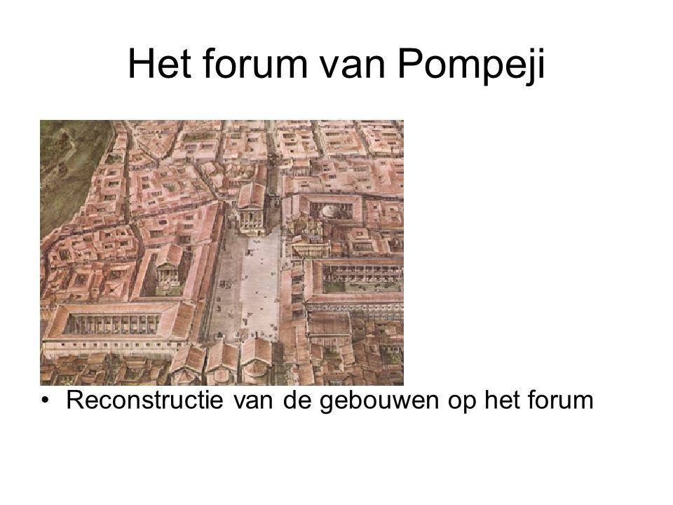 Het forum van Pompeji Reconstructie van de gebouwen op het forum