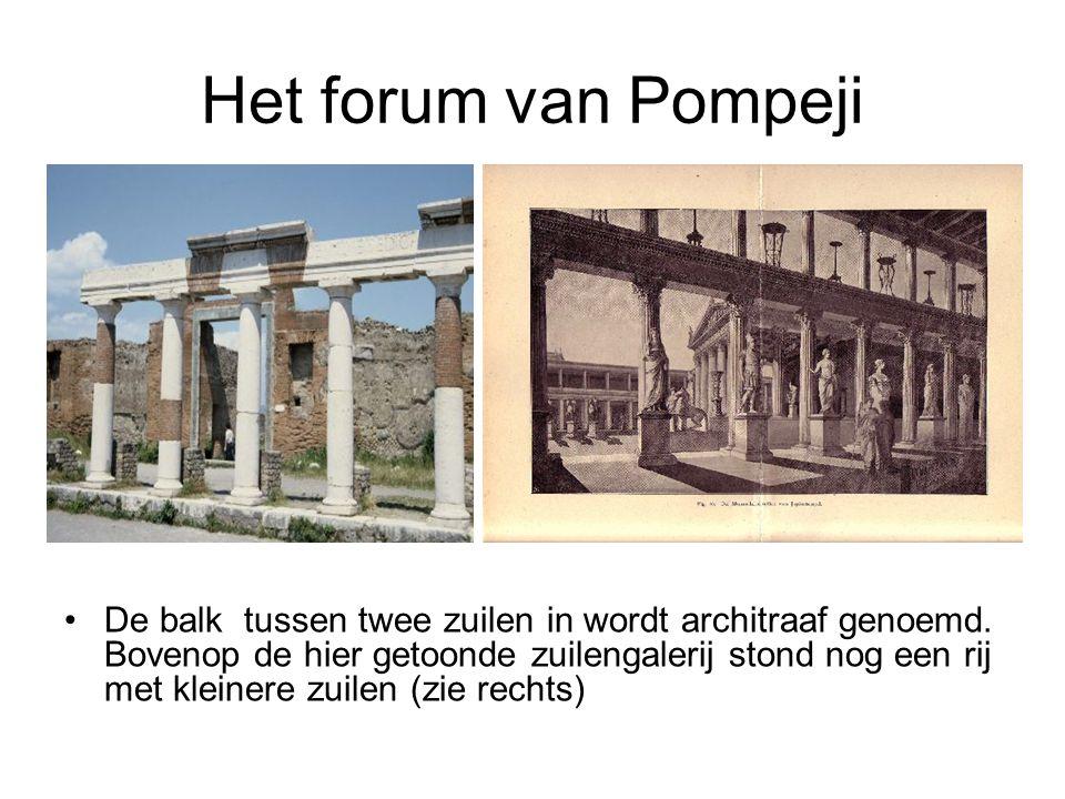 Het forum van Pompeji