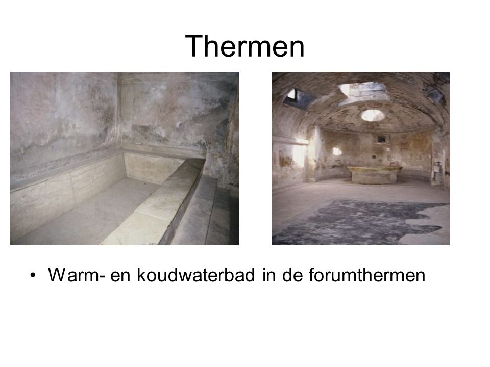 Thermen Warm- en koudwaterbad in de forumthermen