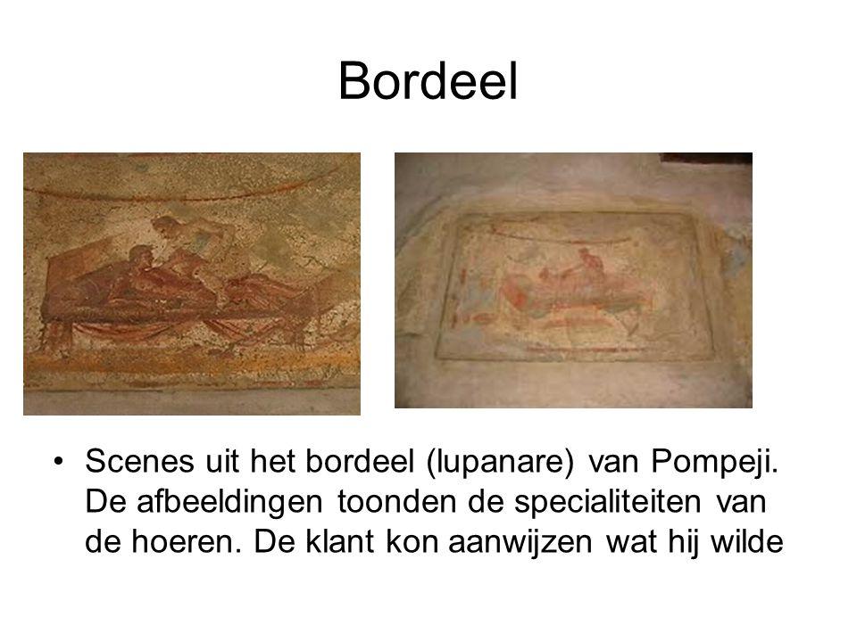 Bordeel Scenes uit het bordeel (lupanare) van Pompeji.