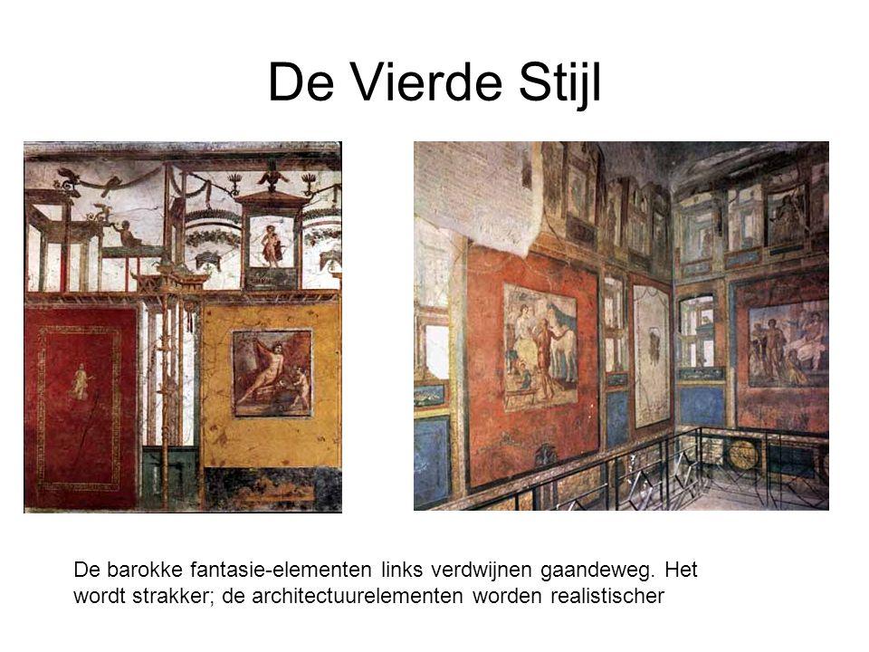 De Vierde Stijl De barokke fantasie-elementen links verdwijnen gaandeweg.