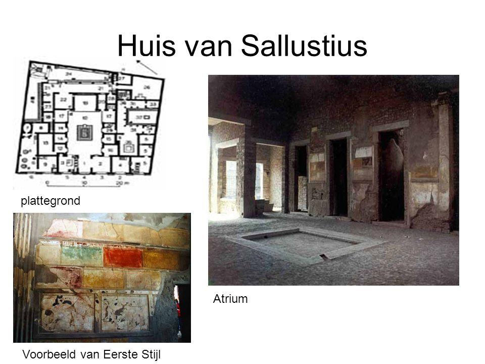Huis van Sallustius plattegrond Atrium Voorbeeld van Eerste Stijl