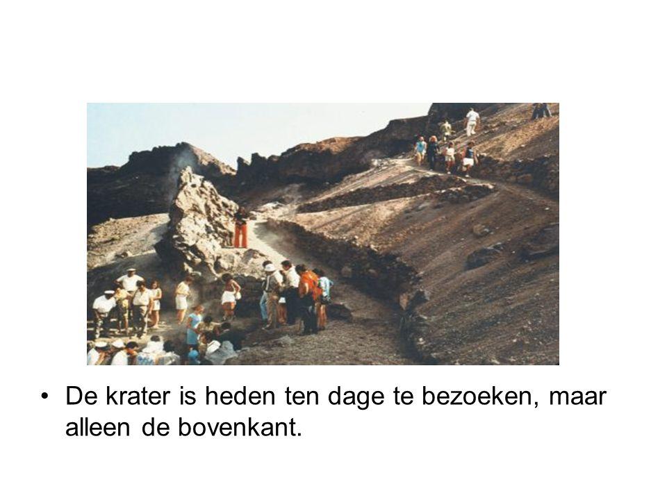 De krater is heden ten dage te bezoeken, maar alleen de bovenkant.