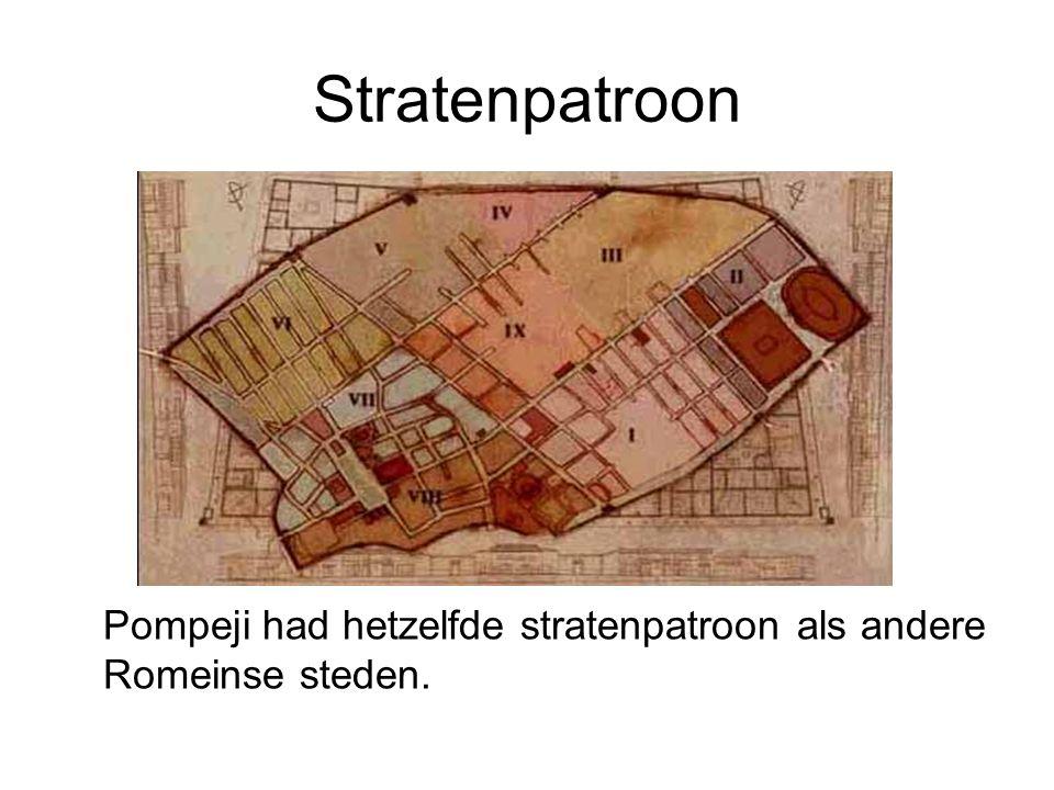 Stratenpatroon Pompeji had hetzelfde stratenpatroon als andere Romeinse steden.