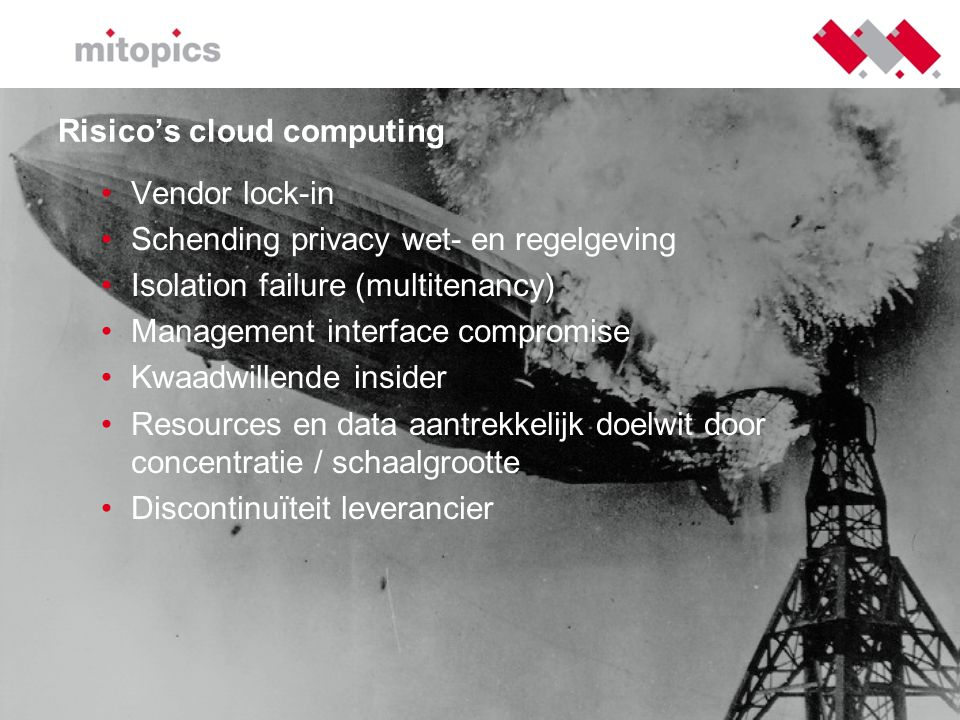 Risico's cloud computing