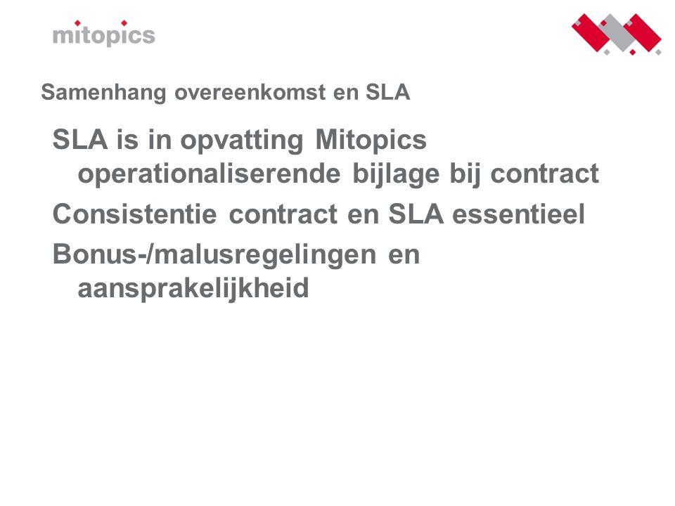 Samenhang overeenkomst en SLA