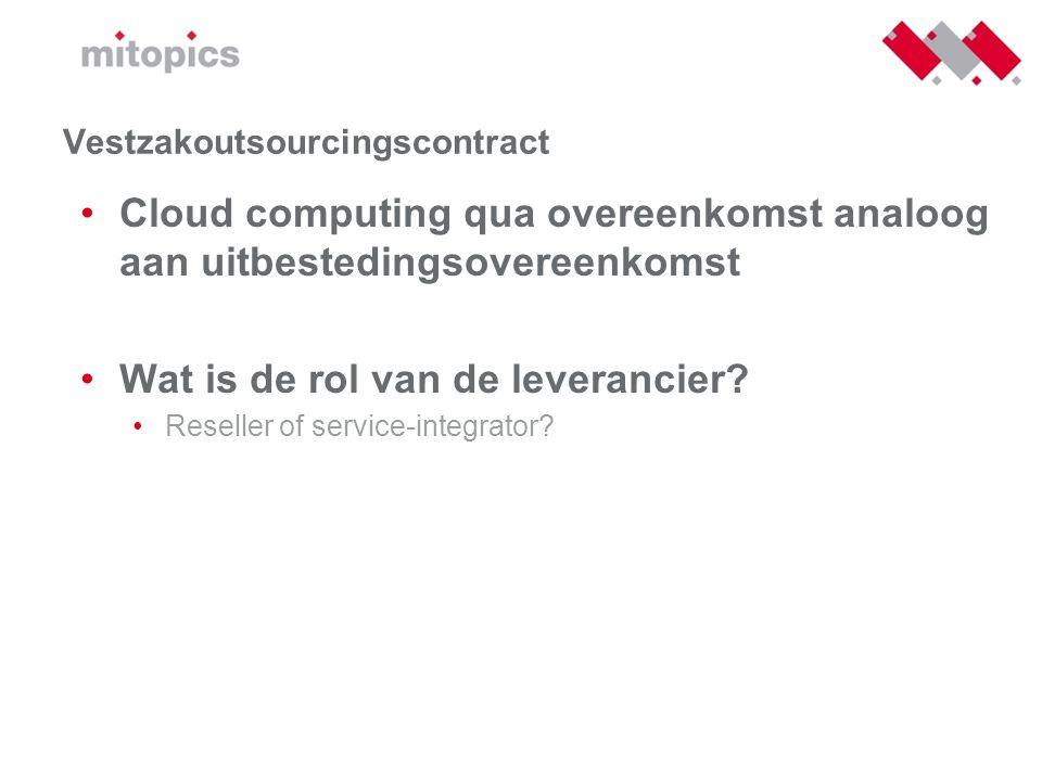 Vestzakoutsourcingscontract