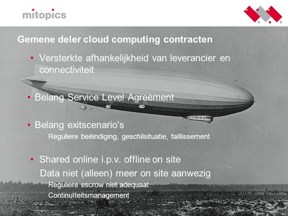 Gemene deler cloud computing contracten