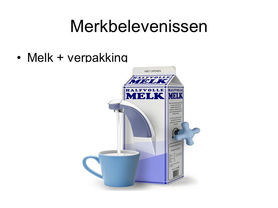Merkbelevenissen Melk + verpakking