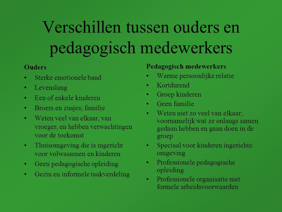 Verschillen tussen ouders en pedagogisch medewerkers