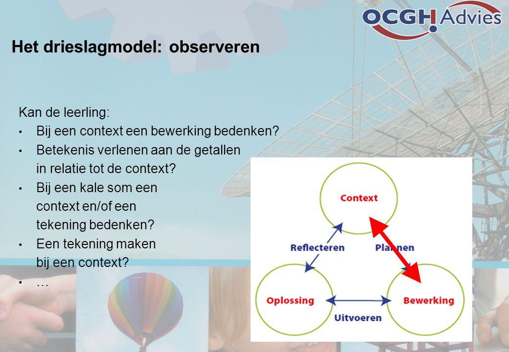 Het drieslagmodel: observeren