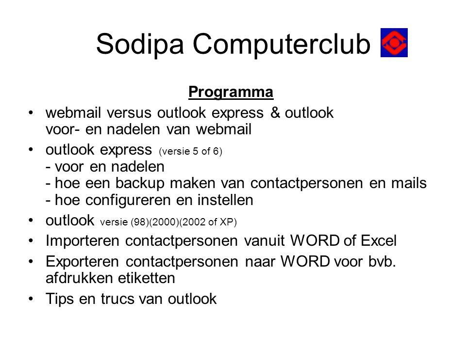 Sodipa Computerclub Programma