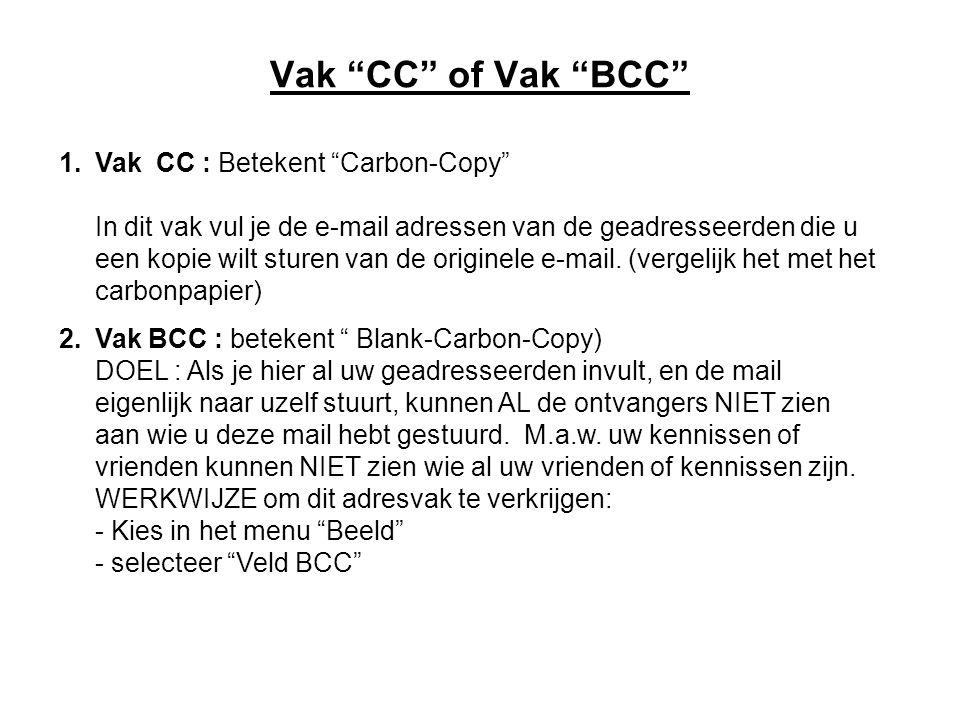 Vak CC of Vak BCC