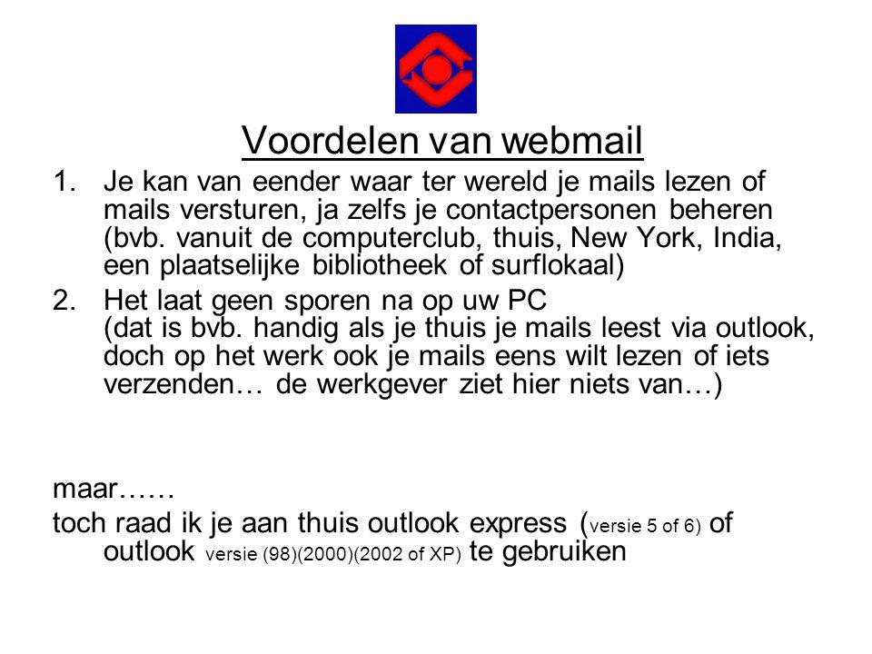 Voordelen van webmail