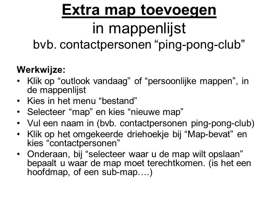 Extra map toevoegen in mappenlijst bvb