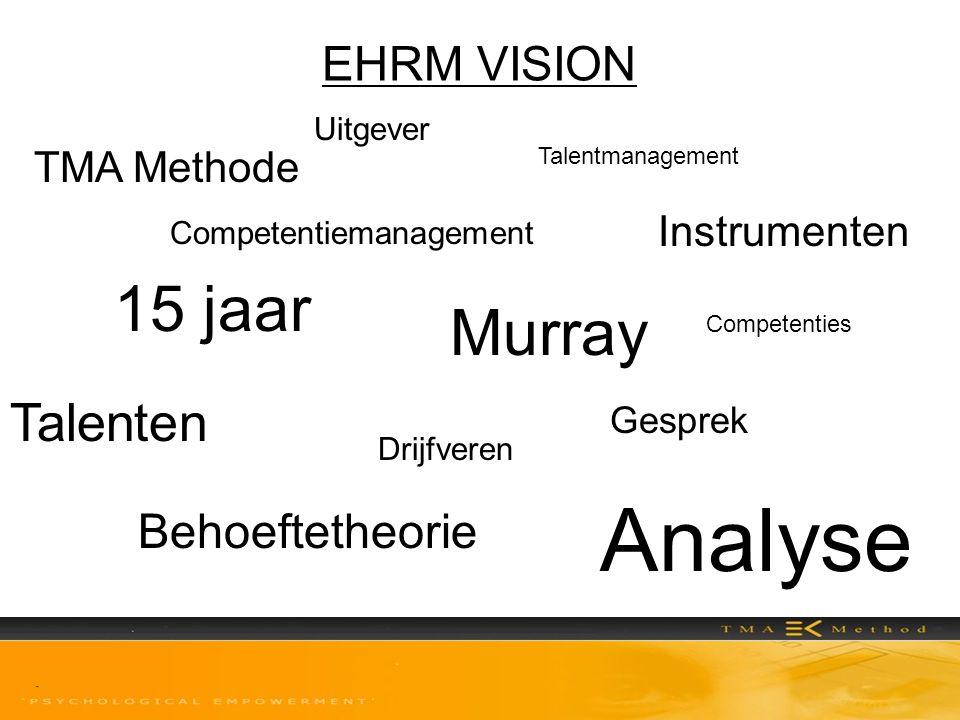 Analyse 15 jaar Murray Talenten EHRM VISION Behoeftetheorie