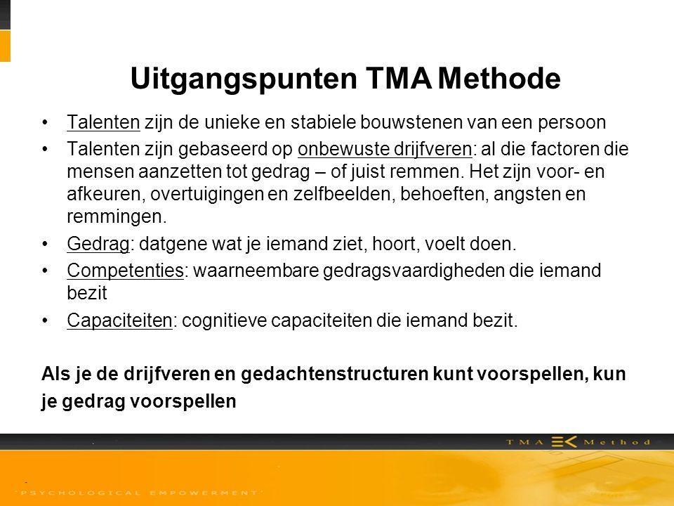 Uitgangspunten TMA Methode