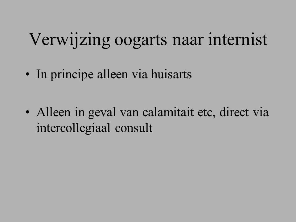 Verwijzing oogarts naar internist